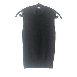 Zara knit sleeveless mock neck